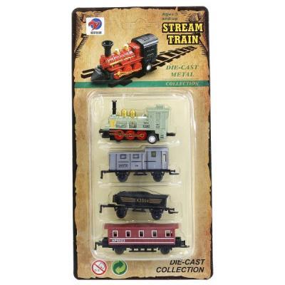 Железная дорога Shantou Stream Train ПАРОВОЗ С 3-МЯ ВАГОНАМИ LY517 с 3-х лет 1709C273 конструктор shantou паровоз
