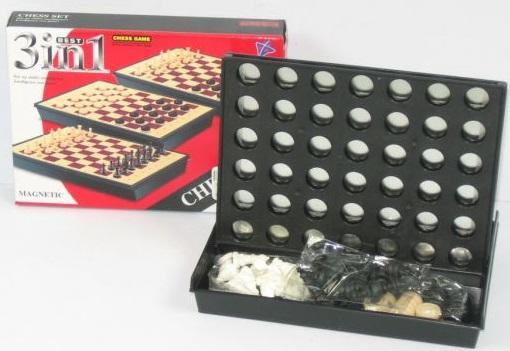 Настольная игра Shantou набор игр ИГРА НАСТОЛЬНАЯ 3-В-1 6108 игр и ко настольная игра дюймовочка