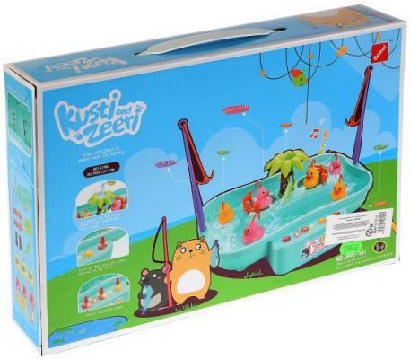 Игра рыбалка на бат. свет+звук, с бассейном и аксесс. 889-301 в кор. в кор.36шт игра каррас жидкий свет x026