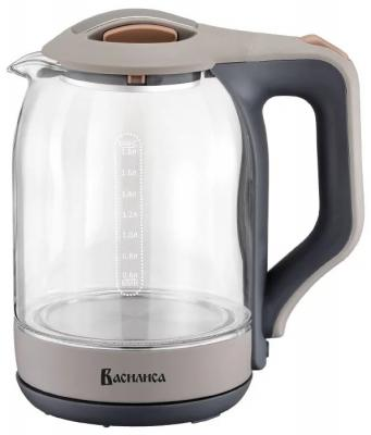 Чайник Василиса ВА-1026 2000 Вт серый 1.8 л пластик/стекло