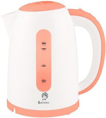 Чайник Василиса Т15-2200 2200 Вт белый коралловый 1.7 л пластик чайник clatronic wks 3625 2200 вт фиолетовый 1 8 л металл