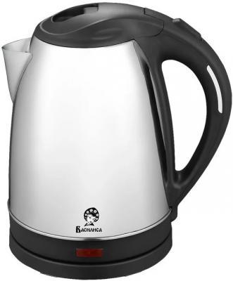 Чайник Василиса Т28-1800 1800 Вт серебристый чёрный 1.8 л металл чайник philips hd9306 02 1800 вт 1 5 л металл серебристый чёрный