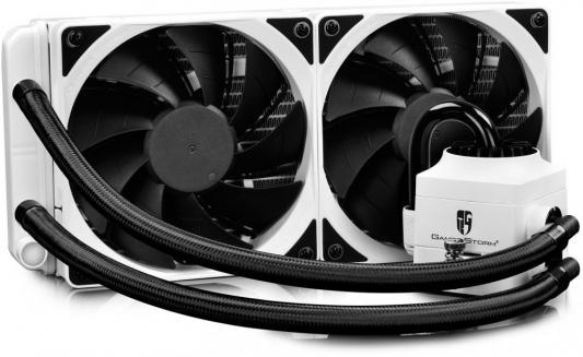 Комплект водяного охлаждения DEEPCOOL CAPTAIN 240 EX RGB WHITE LGA2011/V3/1366/1156/55/51/50/775/FM2/+/FM1/AM3/+/AM2/+/AM4 (8шт/кор,TDP Intel 150W, AMD 140W, RGB Lighting, PWM, DUAL FAN) RET thermalright le grand macho rt computer coolers amd intel cpu heatsink radiatorlga 775 2011 1366 am3 am4 fm2 fm1 coolers fan
