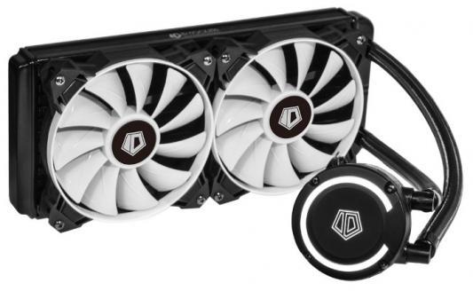 Комплект водяного охлаждения ID-COOLING FROSTFLOW+ 240 LGA2066/2011/1366/1151/50/55/56/775/AM4/FM2/+/FM1/AM3/+/AM2/+/(8шт/кор,TDP 200W, Черно-белый, Помпа с White LED подств., PWM, DUAL FAN 120mm) RET thermalright le grand macho rt computer coolers amd intel cpu heatsink radiatorlga 775 2011 1366 am3 am4 fm2 fm1 coolers fan
