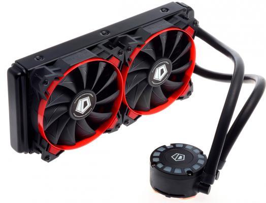 Комплект водяного охлаждения ID-COOLING FROSTFLOW 240L-B LGA2011/1366/1151/50/55/56/775/AM4/FM2/+/FM1/AM3/+/AM2/+/(8шт/кор,TDP 200W, Черно-синий, Помпа с LED подств., PWM, DUAL FAN 120mm) RET thermalright le grand macho rt computer coolers amd intel cpu heatsink radiatorlga 775 2011 1366 am3 am4 fm2 fm1 coolers fan