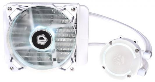Комплект водяного охлаждения ID-COOLING AURAFLOW 120 SNOW LGA2066/2011/1366/1151/50/55/56/775/AM4/FM2/+/FM1/AM3/+/AM2/+/ (12шт/кор,TDP 150W, RGB FAN and PUMP, PWM, FAN 120mm, белый) RET
