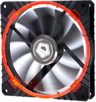 Вентилятор ID-COOLING CF-14025-R 140x140x25мм (60шт./кор, PWM, резиновые углы, Red LED Ring, 200-1300об/мин)  BOX