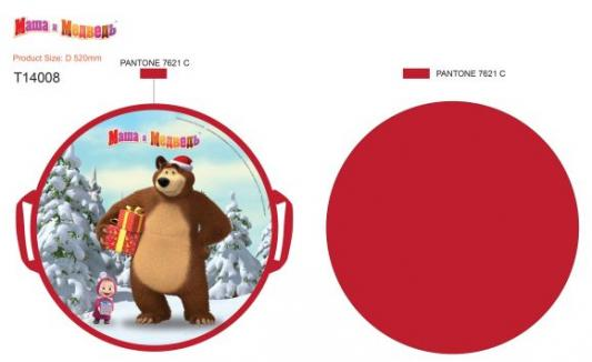 Ледянка Маша и Медведь, круглая, 52 см ледянка мягкая круглая combosport d 40 см авторобот