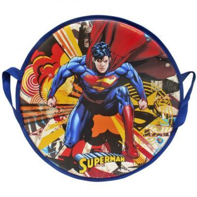 Ледянка Супермен, 52 см, круглая 1toy тюбинг супермен 100 см