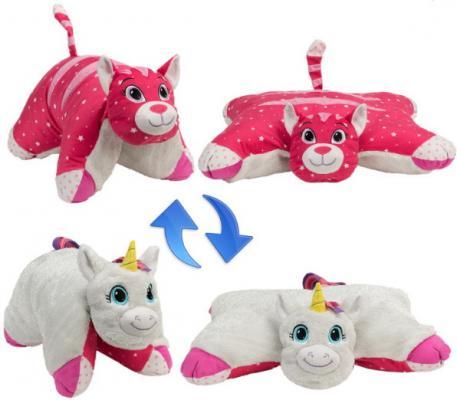 Мягкая игрушка Подушка Вывернушка 2в1Единорог-Кошечка игрушка 1toy подушка furby в полоску т57472
