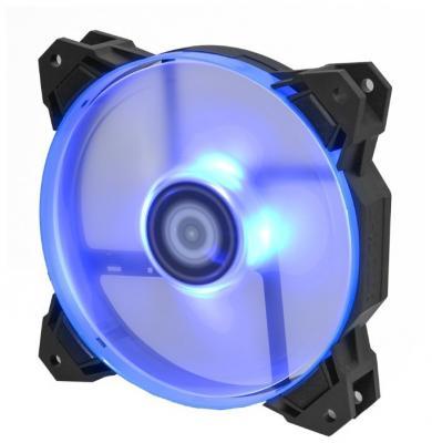 Вентилятор ID-COOLING SF-12025-B 120x120x25мм (80шт./кор, PWM, Low Noise, резиновые углы, Blue LED & Ring, 700-1500об/мин) BOX barrow g1 4 universal water cooling luminescent blue silicone seal o ring 10pcs set cooler pc accessories