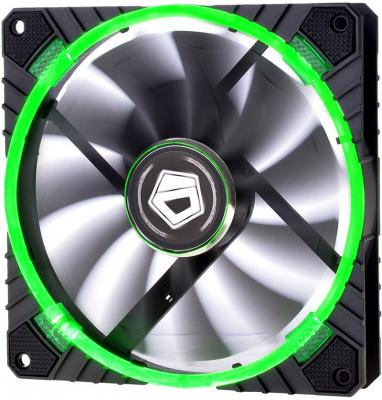 Вентилятор ID-COOLING CF-14025-G 140x140x25мм (60шт./кор, PWM, резиновые углы, Green LED Ring, 200-1300об/мин) BOX green pentagram hair ring