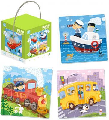 Купить Пазл 4-в-1 Транспорт, Dodo, Пазлы для малышей