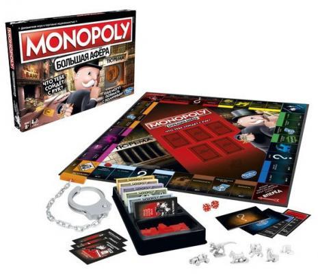 Настольная игра HASBRO ходилка Монополия Большая афёра настольная игра hasbro монополия миллионер 98838