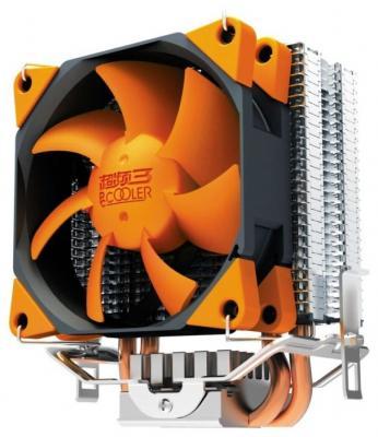 Кулер PCCooler S88 S775/115X/AM2/AM3/AM4/FM1/FM2 (48 шт/кор, TDP 98W, вент-р 80мм с PWM, 2 тепловые трубки 6мм, 1200-2000RPM, 20.5dBa) Retail Color Box thermalright le grand macho rt computer coolers amd intel cpu heatsink radiatorlga 775 2011 1366 am3 am4 fm2 fm1 coolers fan