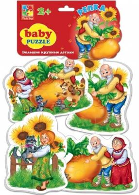 Мягкий пазл Vladi toys Сказки Репка 16 элементов мягкий пазл vladi toys животные 16 элементов