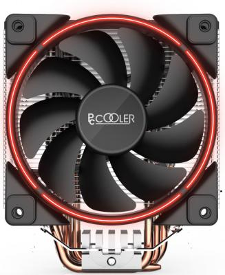 Кулер PCCooler GI-X5R S775/115X/AM2/AM3/AM4 (24 шт/кор, TDP 160W, вент-р 120мм с PWM, Red LED FAN, 5 тепловых трубок 6мм, 1000-1800RPM, 26.5dBa) thermalright le grand macho rt computer coolers amd intel cpu heatsink radiatorlga 775 2011 1366 am3 am4 fm2 fm1 coolers fan