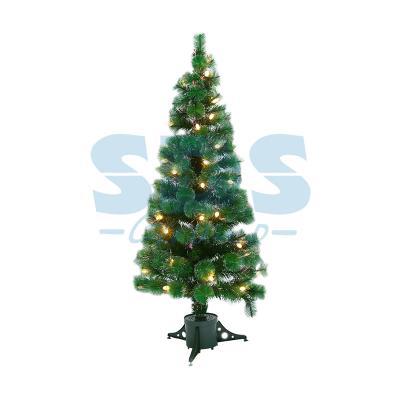 Новогодняя Ель с шишками 180 см фибро-оптика, Теплый белый цвет ель новогодняя crystal trees 1 2 м триумфальная с шишками kp8612