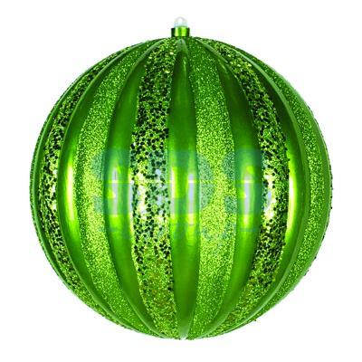 Елочная фигура Арбуз, 30 см, цвет зеленый