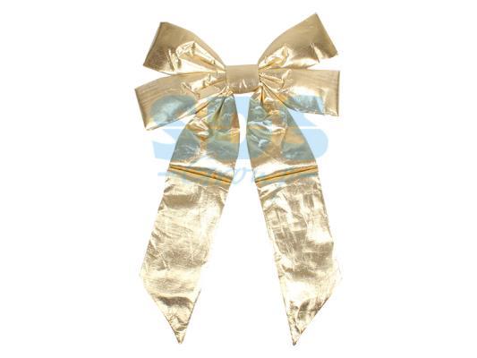 """цена Елочная фигура """"Бантик"""" 45 см, цвет золотой онлайн в 2017 году"""