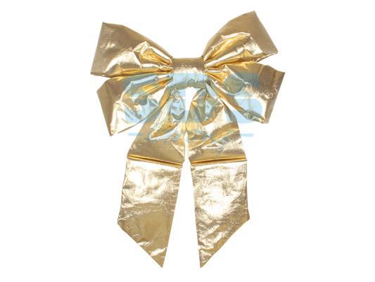 Елочная фигура Бантик 61 см, цвет золотой украшение новогоднее подвесное neon night бантик цвет красный золотой 45 см