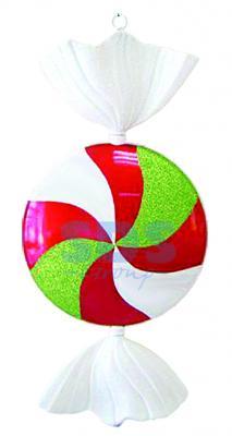 Елочная фигура Леденец, 102 см, цвет белый, красный и зеленый доска для плавания colton цвет зеленый sb 102