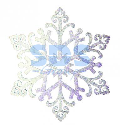 Елочная фигура Снежинка Снегурочка, 81 см, цвет белый
