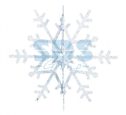 Елочная фигура Снежинка резная 3D, 61 см, цвет серебряный
