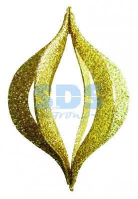Елочная фигура Сосулька складная 3D, 31 см, цвет золотой елочная фигура сосулька 91 см цвет зеленый