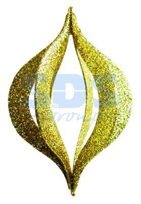 Елочная фигура Сосулька складная 3D, 51 см, цвет золотой елочная фигура сосулька 91 см цвет зеленый