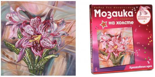 Мозаика из пайеток на холсте Лилии цена