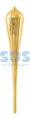 Елочная фигура Тающая сосулька, 49 см, цвет золотой елочная фигура сосулька 91 см цвет зеленый