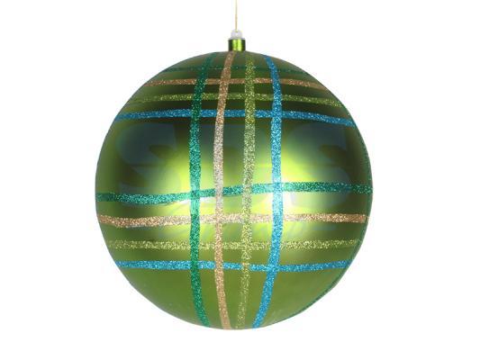 Елочная фигура Шар в клетку 30 см, цвет зеленый мульти светящееся украшение neon night фигура шар 20cm 200 led blue 501 607