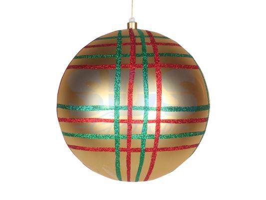 Елочная фигура Шар в клетку 30 см, цвет золотой мульти светящееся украшение neon night фигура шар 20cm 200 led blue 501 607