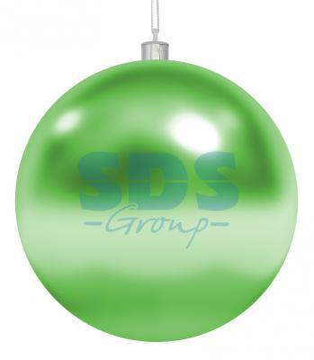 Елочная фигура Шар, 25 см, цвет зеленый светящееся украшение neon night фигура шар 20cm 200 led blue 501 607
