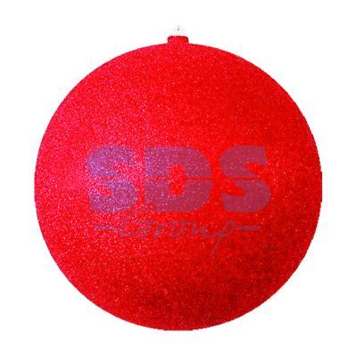 Елочная фигура Шар с блестками, 25 см, цвет красный украшение елочное шар красный с блестками 13 см красный полимерный материал