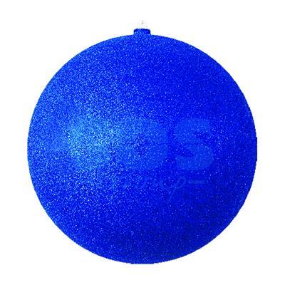 Елочная фигура Шар с блестками, 25 см, цвет синий светящееся украшение neon night фигура шар 20cm 200 led blue 501 607