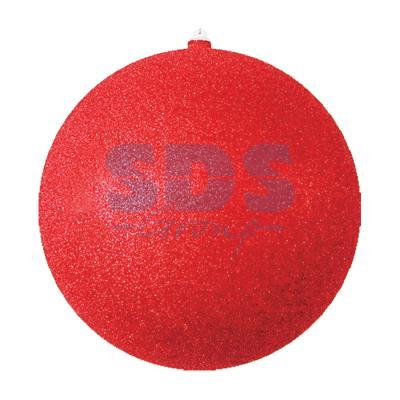 Елочная фигура Шар с блестками, 30 см, цвет красный украшение елочное шар красный с блестками 13 см красный полимерный материал