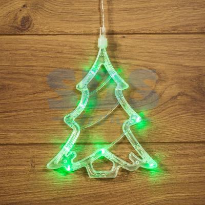 Фигура светодиодная Елочка на присоске с подвесом, цвет зеленый 501-017