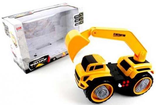 Грузовик Наша Игрушка Грузовик с ковшом желтый 6655-3 грузовик каролина грузовик армия хаки 40 0002 арм