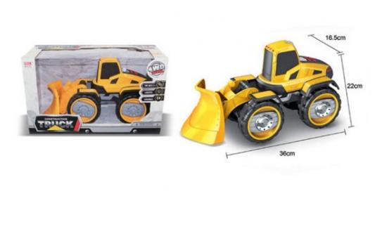 Снегоуборочная машина Наша Игрушка Экскаватор снегоуборочный черно-оранжевый