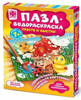 Купить Пазл-водораскраска Фантазёр Пестрая полянка 4 элемента, Пазлы для малышей