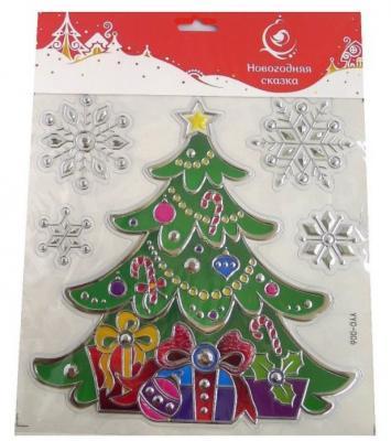Наклейка Новогодняя сказка Елочка 25х25 см ель новогодняя сказка декоративная елочка с шишками зеленый 30 5 см