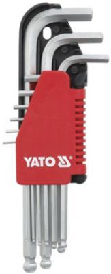 Набор ключей YATO YT-0507 2-10мм 9шт. CrV с шаровым наконечником тестер напряжения yato yt 28631