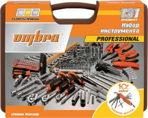 Набор инструментов OMBRA OMT131S18 юбилейная серия универсальный 1/4 3/8 и 1/2dr 131предмет ключ ombra a90039 3 8 dr 10 110 nm