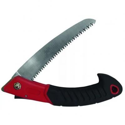 Ножовка FRUT 401145 садовая складная, нож 15см, прорезиненая рукоятка садовая складная ножовка frut 15 см 401145