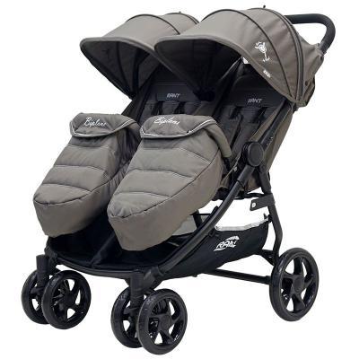 Коляска прогулочная для двоих детей Rant Biplane (brown) коляска прогулочная rant aero brown