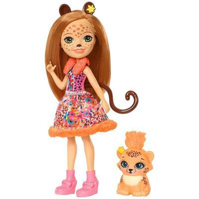 Купить Кукла MATTEL Кукла с любимой зверюшкой - Чериш Гепарди 15 см шарнирная, пластик, текстиль, Классические куклы и пупсы