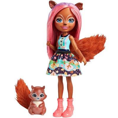 Купить Игрушка Enchantimals Кукла с питомцем - Санча Белка (FNH22), MATTEL, 16 см, пластик, текстиль, Классические куклы и пупсы
