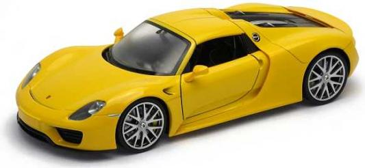 Автомобиль Welly Porsche 918 Spyder 1:24 желтый 24055 автомобиль welly porsche cayman s 1 24